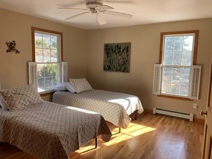 North Truro Cape Cod vacation rental - Evergreen Sunrise Room w 2 XL Twins ADA accessible private bath
