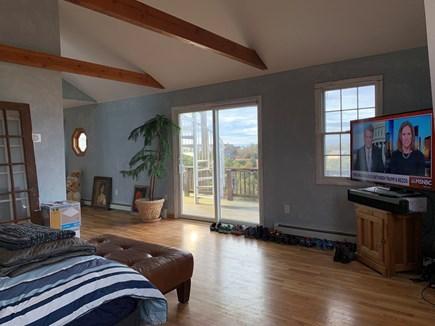 North Truro Cape Cod vacation rental - Master view onto West deck