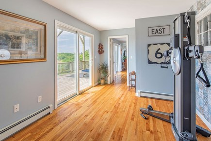 North Truro Cape Cod vacation rental - Nordictrack now replaces with queen sized sleeper sofa.