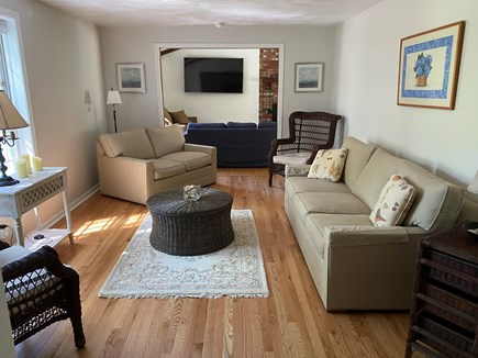 East Sandwich Cape Cod vacation rental - Living room with plenty of seating