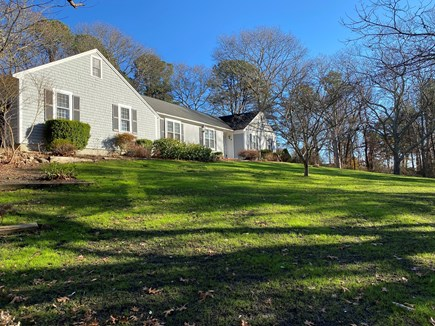 East Sandwich Cape Cod vacation rental - Front of House with spacious front lawn