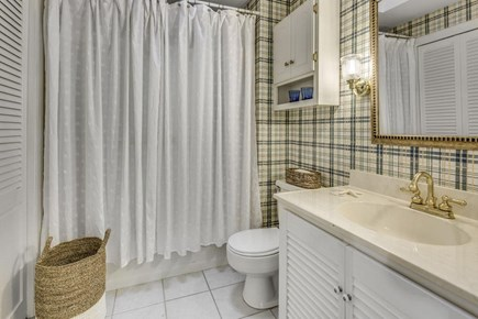 East Sandwich Cape Cod vacation rental - Bathroom with laundry room (washer & dryer)