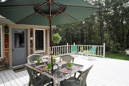 Brewster Cape Cod vacation rental - Deck- enjoy dining outdoors