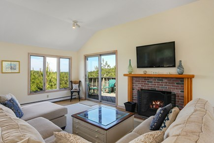 Truro Cape Cod vacation rental - Comfortable Seating, Sliders to Deck