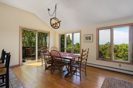 Truro Cape Cod vacation rental - Dining Area, Sliders to Deck