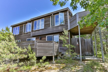 Truro Cape Cod vacation rental - Front of Home Looks to Bay