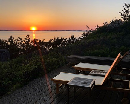 Truro Cape Cod vacation rental - Sunset off of the deck