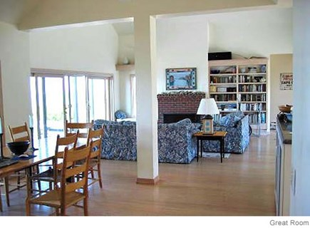 Truro Cape Cod vacation rental - Dining and living room