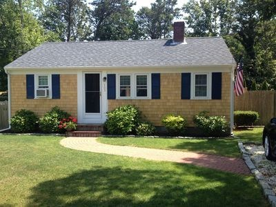 West Harwich Cape Cod vacation rental - Front of cottage off side street. 800 yard to beach.