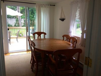 West Harwich Cape Cod vacation rental - Dinning area with slider to back porch