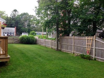 West Harwich Cape Cod vacation rental - Side of cottage. Yard very well maintained