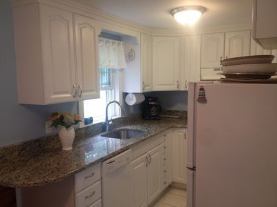 West Harwich Cape Cod vacation rental - Kitchen with granite counter top