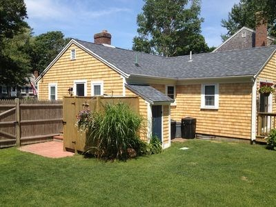 West Harwich Cape Cod vacation rental - Side of cottage