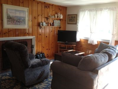 West Harwich Cape Cod vacation rental - Living area with 42 inch flat screen TV