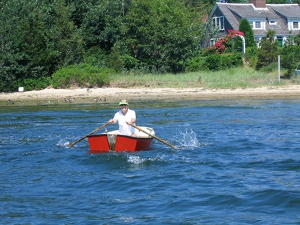 Yarmouth, Bass River Cape Cod vacation rental - Return to Aunt Mariah's after   visit river mouth in the rowboat.