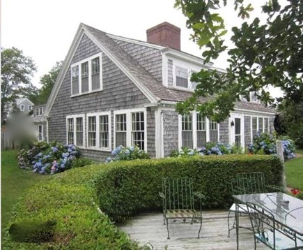Yarmouth, Bass River Cape Cod vacation rental - The shaded and, after dark, lighted patio .