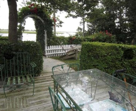 Yarmouth, Bass River Cape Cod vacation rental - Walkway from patio to your beach.Look down river to the sound.