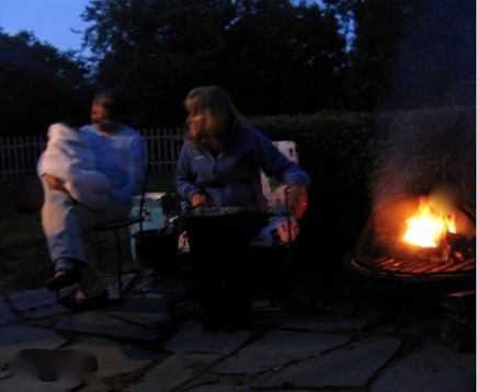 Yarmouth, Bass River Cape Cod vacation rental - Fire pit by patio.