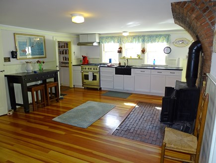Yarmouth, Bass River Cape Cod vacation rental - View of kitchen from sitting area, opens to galley