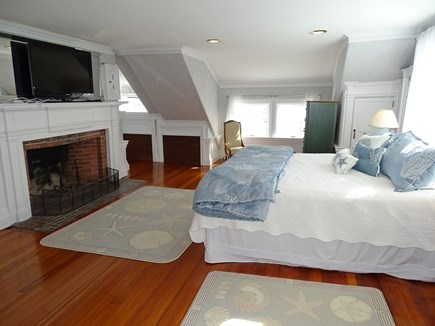Yarmouth, Bass River Cape Cod vacation rental - Master includes large fireplace, flat screen TV