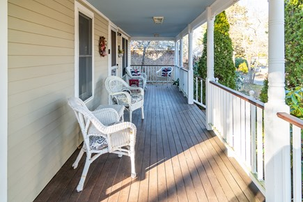 South Chatham Cape Cod vacation rental - Front Porch with seating