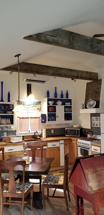 East Harwich Lond Pond Cape Cod vacation rental - Custom kitchen with antique copper sink and splash