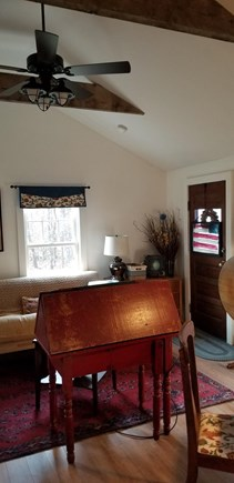 East Harwich Lond Pond Cape Cod vacation rental - Living kitchen area has ceiling fan and air conditioning