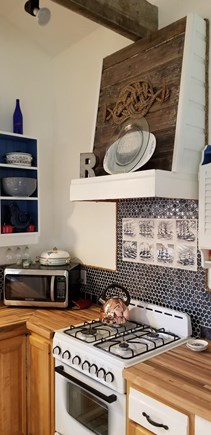 East Harwich Lond Pond Cape Cod vacation rental - Custom butcher block counters and tile splash