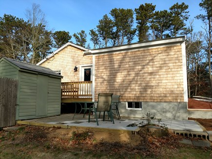 East Harwich Lond Pond Cape Cod vacation rental - Patio with BBQ grill, and picnic table