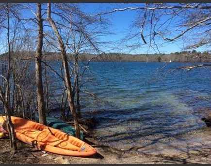 East Harwich Lond Pond Cape Cod vacation rental - Crystal clear lake is a 3 minute walk. Canoe & paddleboard incl