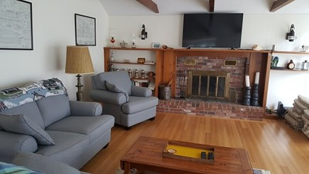Dennis, East Dennnis Cape Cod vacation rental - New Flat screen TV over Fireplace
