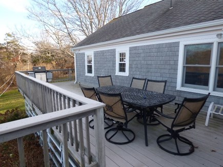 Dennis, East Dennnis Cape Cod vacation rental - Furniture and table on back deck
