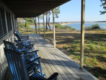 Wellfleet Cape Cod vacation rental - Amazing views from covered deck.  Sunsets are SPECTACULAR!!!