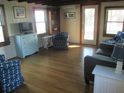 Wellfleet Cape Cod vacation rental - Spacious living room with great views