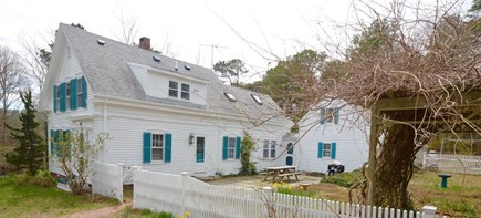 Wellfleet Cape Cod vacation rental - Side view of gardens and patio