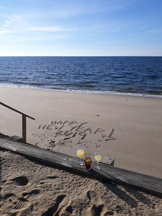 North Truro Cape Cod vacation rental - Cocktails on the beach!