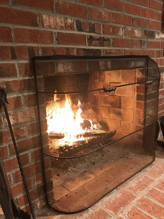 Brewster Cape Cod vacation rental - Cozy by the fireplace!