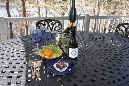 Brewster Cape Cod vacation rental - Step out on to the deck for a nibble