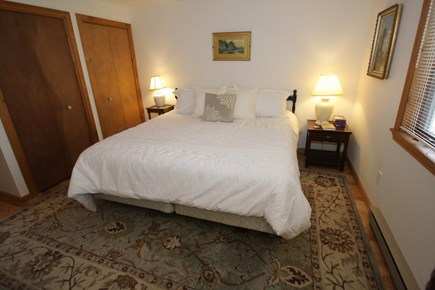 Brewster Cape Cod vacation rental - King sized bed on first floor with adjacent bath