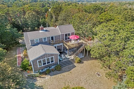 East Orleans Cape Cod vacation rental - Aerial View of home