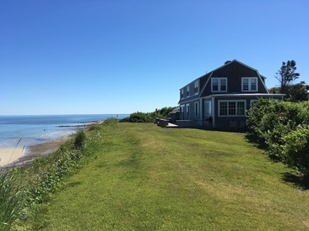 Dennis Cape Cod vacation rental - Back of house with private beach and views