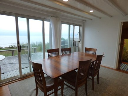 Dennis Cape Cod vacation rental - Dining area next to kitchen with ocean views