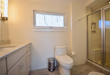 Truro Cape Cod vacation rental - Master bath with walk-in tiled shower