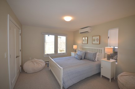 Truro Cape Cod vacation rental - Lower bedroom 2 with queen bed and mini split A/C
