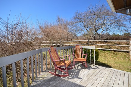 Truro Cape Cod vacation rental - Master bedroom deck - very private in summer