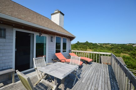 Truro Cape Cod vacation rental - Deck offers water views and is private from neighboring homes