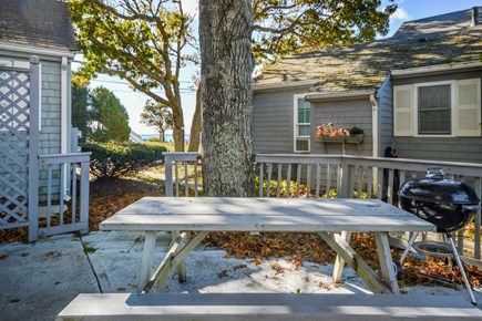 Hyannis Cape Cod vacation rental - Private patio with picnic table and charcoal grill
