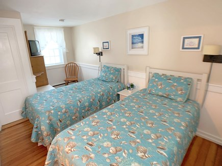 Hyannis Cape Cod vacation rental - Second bedroom with two new twin beds, mattresses, and bedding.