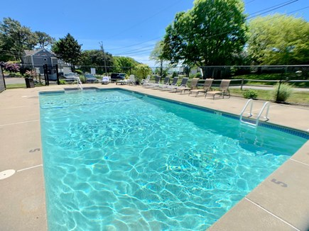 Hyannis Cape Cod vacation rental - Heated pool (seasonal) staffed by CPR trained pool assistant