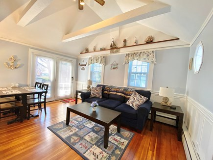 Hyannis Cape Cod vacation rental - Comfortable living room with queen sleep sofa